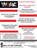 8-5-2017, August Open House, at Walk In Art Center, Schuylkill Haven